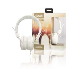 On-Ear Headphones 1.20 m White