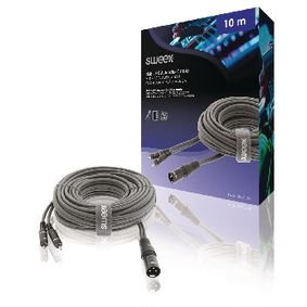 XLR Stereo Cable 3-Pin Male - 2x RCA Male 10.0 m Dark Grey - Coming Soon