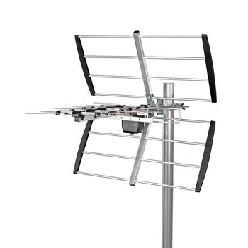 Outdoor TV Antenna LTE 700 Max. 12 dB Gain UHF: 470 - 694 MHz 8 Components