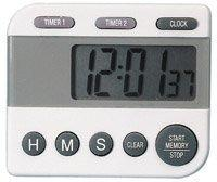 TIME AND TEMPERATURE-MIN METER CLOCK