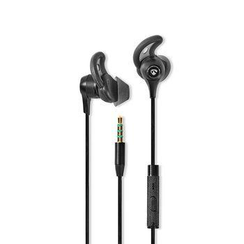 Sport Headphones Wired In-Ear 1.2m Cable Black