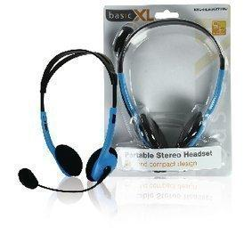 Headset On-Ear 2x 3.5 mm Wired Built-In Microphone Blue