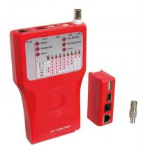 Network cable tester Firewire for testing CAT 5/6 network and ISDN connections